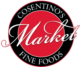 A logo of Cosentino's Market
